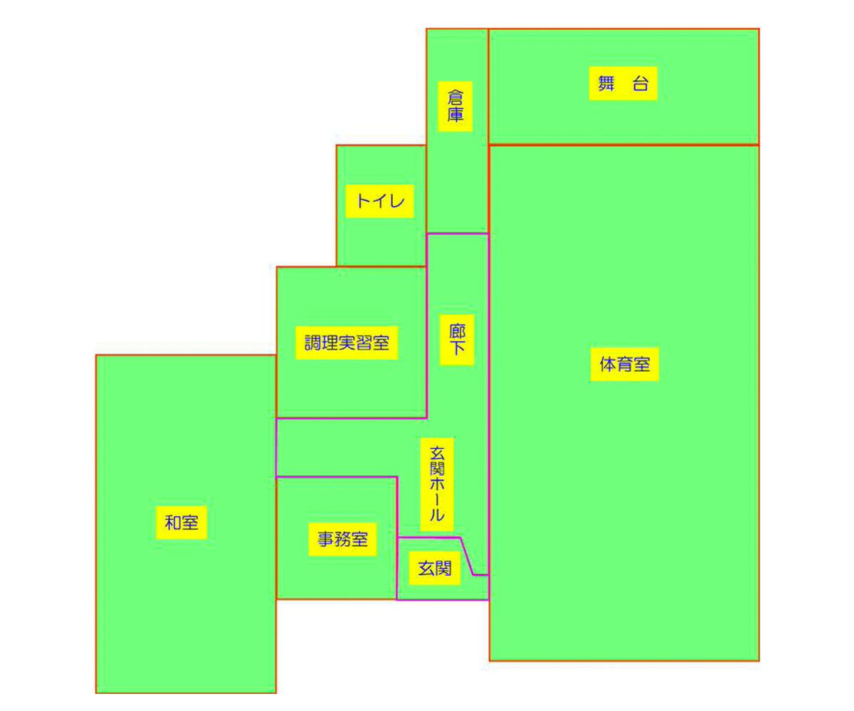 笹谷分館 平面図