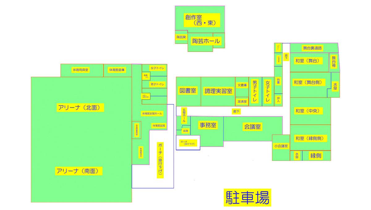 山目市民センター 平面図